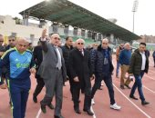 صور.. محافظ بورسعيد يتفقد استاد المصرى استعدادا لاستضافة أمم أفريقيا
