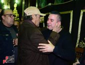 فاروق الفيشاوى وهانى رمزى وأحمد بدير يقدمون واجب العزاء فى رحيل سعيد عبد الغنى
