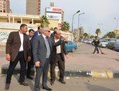 محافظ الجيزة يتفقد أعمال التطوير بشارع وزارة الزراعة بالدقى