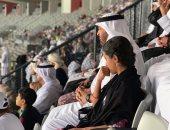 فيديو وصور..  محمد بن زايد يحتفل بفوز الإمارات على قيرغيزستان وسط الجمهور