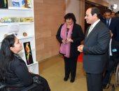 صور.. وزيرة الثقافة: افتتاح الرئيس لمعرض الكتاب يعكس اهتمام الدولة بصناعة النشر