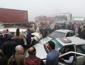 مصرع شاب وإصابة آخر فى حادث تصادم سيارتين طريق بورسعيد - الإسماعيلية