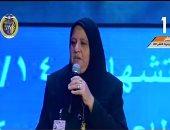 """فيديو..والدة شهيد أمام السيسى: """"ابنى دفع حياته علشان خاطر مصر وترابها"""""""
