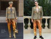 """كريستين ستيوارت """"آخر شياكة"""" بعرض أزياء """"Chanel"""" فى باريس"""