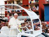 صور..استقبال حاشد لبابا الفاتيكان لدى وصوله بنما لحضور اليوم العالمى للشباب