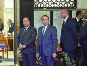 وزراء البترول والتموين والاتصالات يقدمون العزاء فى وفاة والدة وزير المالية