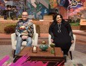 """صور.. شيماء سيف وشريف مدكور وتأثير السوشيال ميديا على حياتهم فى """"أنا وبنتى"""""""