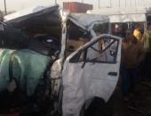 إصابة 7 أشخاص فى حادث تصادم سيارتين بالبحيرة