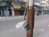 قارئ يرصد سرقة التيار الكهربائى بشارع الجلاء بوسط القاهرة