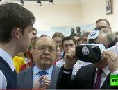شاهد.. بوتين يدخل العالم الافتراضى بجامعة موسكو