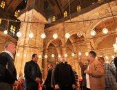 وزير الآثار يتفقد مسجد محمد على بقلعة صلاح الدين (صور)