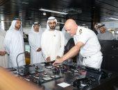 """صور.. حاكم دبى يزور الباخرة الإيطالية """"MSC"""" خلال تواجدها فى ميناء راشد بالإمارات"""