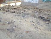 شكوى من تدهور طريق بقرية الروضة فى الفيوم بعد انتهاء أعمال الكهرباء