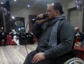 تحدى الإعاقة.. المنشد شعبان محمد يهدى مصر ابتهالات احتفالا بعيد الشرطة