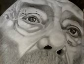 """قارئ من سوهاج يشارك ببورتريهات رائعة بالقلم الرصاص.. أبرزها """"البابا شنودة"""""""