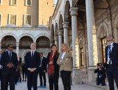 صور.. زوجة الرئيس الفرنسى ماكرون تزور جامع محمد على بالقلعة