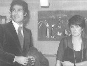 صورة نادرة.. شاهد وزير الثقافة الأسبق فاروق حسنى بصحبة الملكة فريدة بباريس