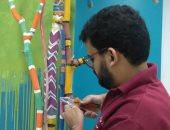 صور.. قارئ يشارك بأعمال فنية من فروع الأشجار لديكورات المنازل