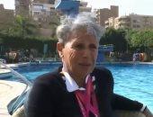 شاهد.. نجوى غراب سباحة مصرية تتحدى الشيخوخة فى عقدها الثامن