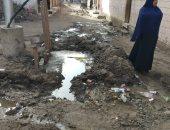فيديو وصور..  شكوى من غرق منطقة أبو رواش بالصرف الصحى والأهالى تستغيث