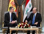 صور.. رئيس العراق يدعو ملك إسبانيا لمشاركة حكومة بلاده فى إعادة الإعمار