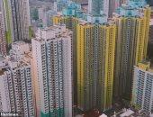 لوحة فنية طبيعية.. لقطات جوية لهونج كونج تظهر امتزاج المبانى والغابات.. فيديو