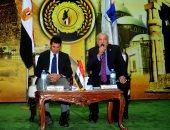 وزير الشباب والرياضة يلتقى شباب الجامعات المصرية بمعهد إعداد القادة بحلوان