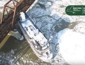 لقطات جديدة من انفلات سفن يسبب فوضى فى نهر هدسون بنيويورك