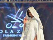 مصممة أزياء سعودية تعلن العباءة الخليجية black & white موضة 2019