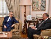 شكرى يؤكد لغسان سلامة تمسك مصر بحل الأزمة الليبية وفقا للاتفاق السياسى
