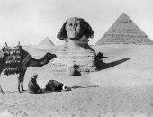 لا تفوتك.. صور نادرة لأهرامات الجيزة وتمثال أبو الهول عمرها 109 سنوات