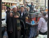 """سعد الصغير من على عربية فول: """"أحلى فطار مع أحلى ناس طيبين"""""""