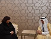 وزيرة الثقافة تلتقى أمين عام منظمة التعاون الإسلامى