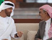 ولى عهد أبو ظبى يستقبل الأمير بدر بن عبد المحسن بن عبد العزيز آل سعود