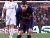 """برشلونة ضد الريال.. الإصابة هاجمت ميسي خلال الكلاسيكو """"صور"""""""