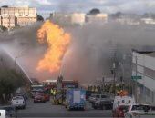 سلسلة انفجارات وحريق هائل بمصنع للنفايات الصناعية الخطيرة فى أستراليا
