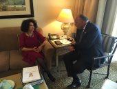شكرى يبحث مع وزيرة خارجية جنوب افريقيا توثيق التعاون بين البلدين