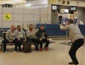 صور.. لاعبو الأهلي بتوافدون على مطار القاهرة استعدادا لرحلة تنزانيا