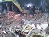 سقوط أجزاء من عقار قديم بجمرك الإسكندرية بدون إصابات