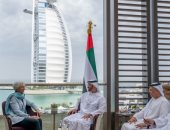 محمد بن زايد يستقبل قادة مشاركين فى القمة العالمية للحكومات