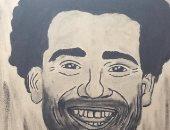 """""""هيا"""" تبدع فى رسم مشاهير الكرة والفن.. ولوحة خاصة لمحمد صلاح"""