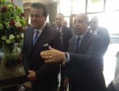 صور.. وزير التعليم العالى يصل أكاديمية العلوم بالإسكندرية لحضور ورشة عمل