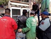 حملة مكبرة لإزالة الإشغالات وبروز المبانى علي حرم شارع كلية التجارة ببنها