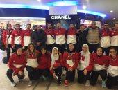 بعثة منتخب الكاراتيه تعود للقاهرة بعد تحقيق البطولة الأفريقية فى بتسوانا