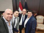 صور.. تكريم عمرو مصطفى والمخرج خالد جلال من وزارة الداخلية