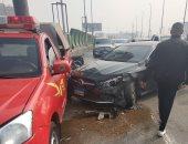 إصابة شخصان اثر حادث تصادم دراجة بخارية وسيارة فى مدينة نصر