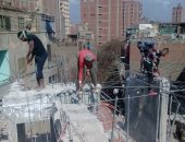 تحرير 217 محضرا متنوعا فى حملات إزالة إشغالات بـ6 أحياء فى العاصمة