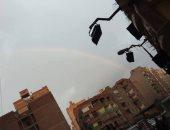 قراء يشاركون بصور لقوس قزح اليوم عقب الأمطار