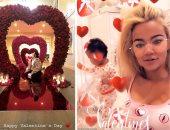 فلانتين آل كاردشيان.. كيف قضى نجوم تليفزيون الواقع عيد الحب؟ فيديو وصور