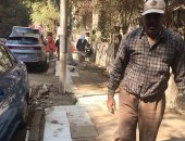 قارئة تشارك صور استجابة حى الدقى لشكوى عن إتلاف رصف فى شارع محمد كامل